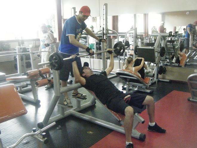 dedicação total dos alunos no treino