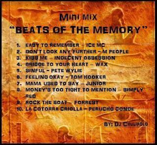 MINIMIX - BEATS OF THE MEMORY  BY DJ CHULIPOLO