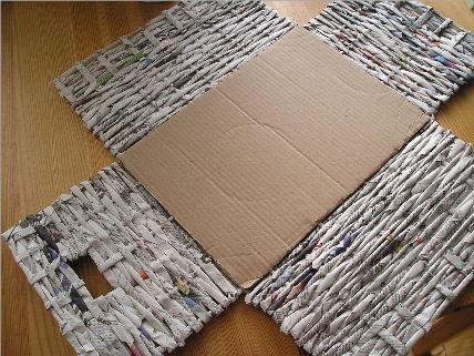 Como hacer cestas de papel periodico imagui - Cestas de papel de periodico ...
