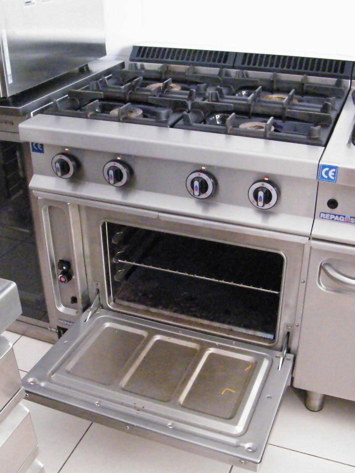 Venta material hosteleria segunda mano cocina gas 4 for Cocina 4 fuegos industrial