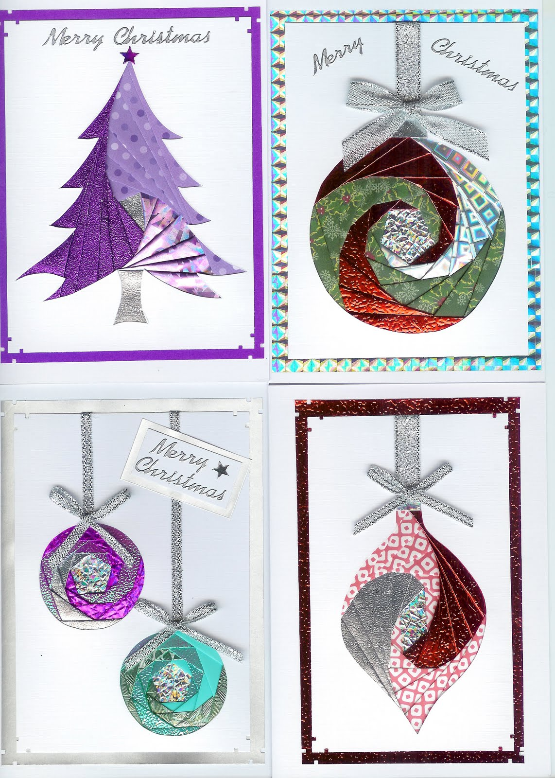 Mandys Stampin Spot Iris Folding Christmas