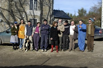 Fito y familia. Castroverde,2008