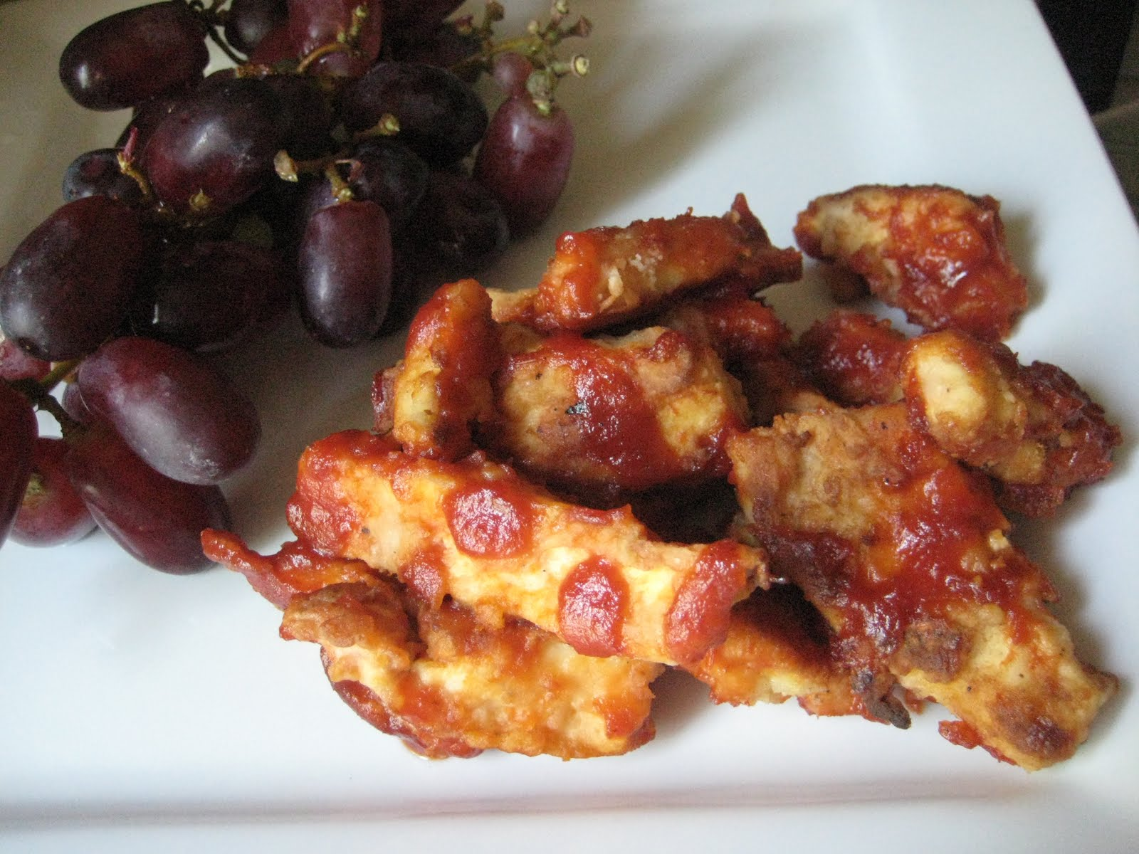 yum.: Crispy BBQ Tofu Slices