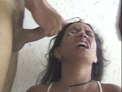 Cute latina girl get pounded and covered in a face full of jizz!