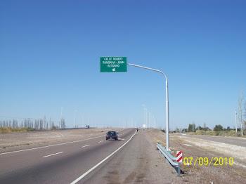 Cartel Referencial Ruta 7 Panamericana Km 994