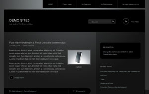 Piano Black Blogger Template