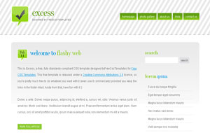 Excess Simple Minimal Green 2 Column Blogger XML Template