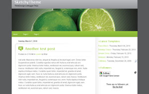 SketchyTheme Green 2-Column Blogger XML Template