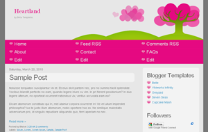 Heartland Beautiful Cute Girly Blogger XML Template