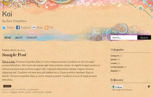 Koi Premium Quality Blogger Blogspot Template