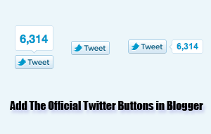 Blogspot How To: Use the Official Twitter Tweet Buttons