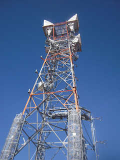 Radio tower on Davidson Peak near Mesquite Nevada