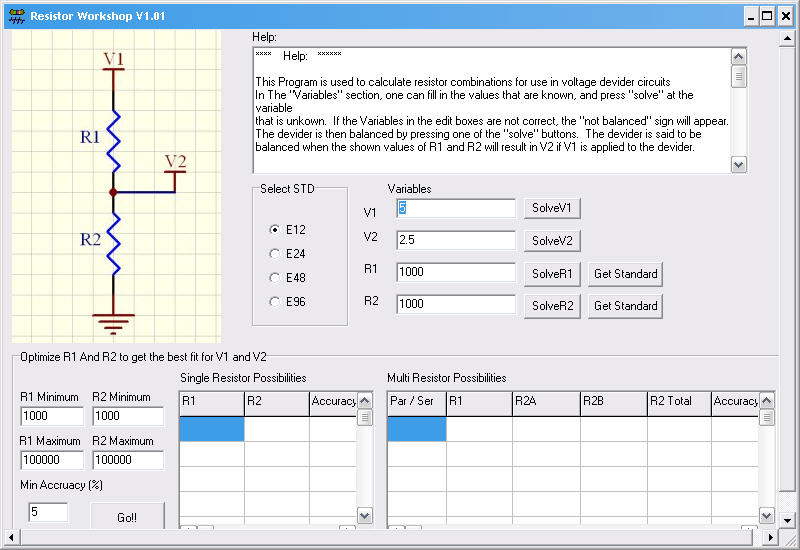 Good weber education softwares this software is especially geared towards calculating values for voltage devider circuits greentooth Image collections
