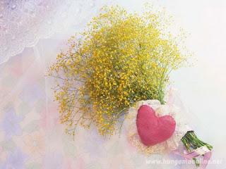 Yellow Flowers Love Wallpaper