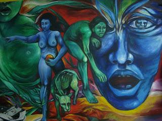 Lvaro serme o pintura mural for Mural nuestra carne