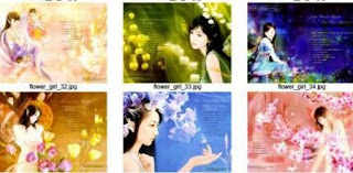 Wallpaper Collection - Flower Girl