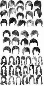 Hairstyles Photoshop brushes