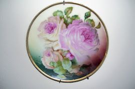 My Grandmother's rose plate.