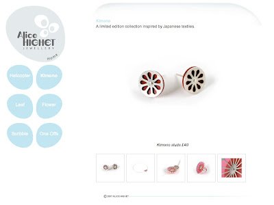 Alice Highet Jewellery website screenshot