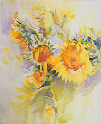 'last of the stragglers - sunflower bouquet
