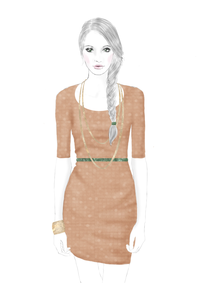 fashion sketch, illustration, drawing, sabrina claire,