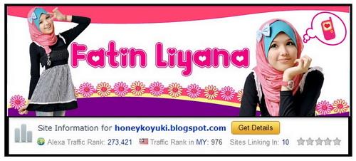Fatin Liyana, Gadis Blogger yang Comel