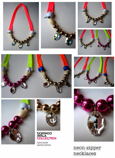 NEONZIPPER NECKLACES Domingo Ayala Handmade