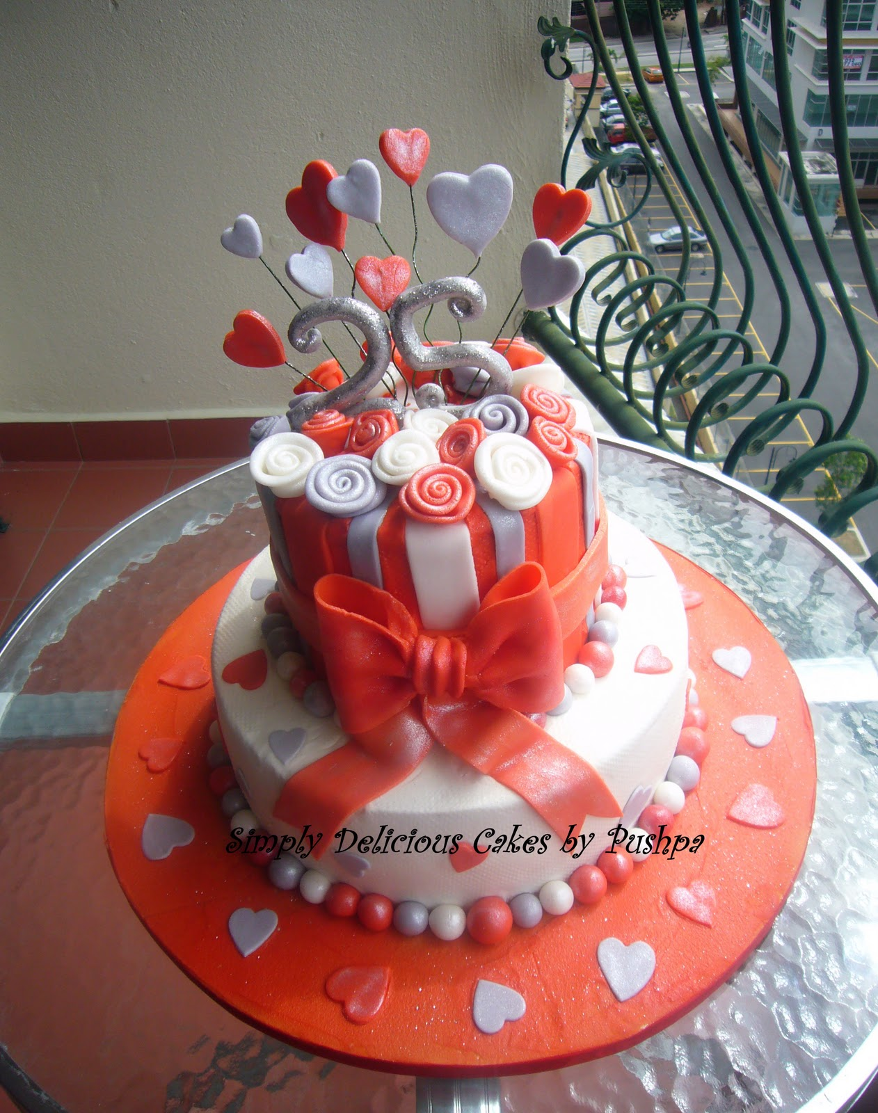 SIMPLY DELICIOUS CAKES: Silver Jubilee Anniversary