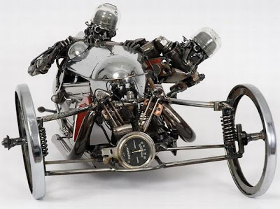 Awesome Sculpture Made out of Scrap Car Parts Seen On www.coolpicturegallery.net