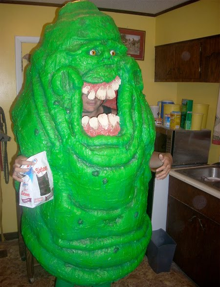 Slimer costume costume inspired by green ghost from ghostbusters