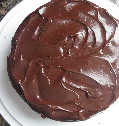 Alice and the Mock Turtle: Chocolate Cake with Dark Chocolate Frosting