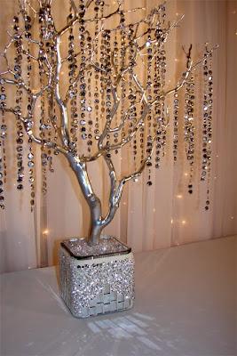 Centros de mesa para boda rboles como centros de mesa - Arboles secos decorados ...