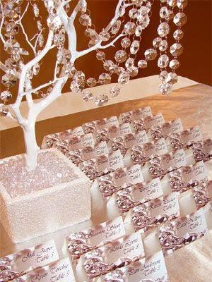 Trees wedding centerpieces