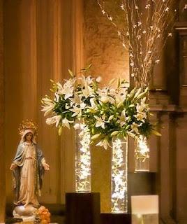 Centros de mesa para boda arreglos florales con luz para - Arreglos florales para bodas ...
