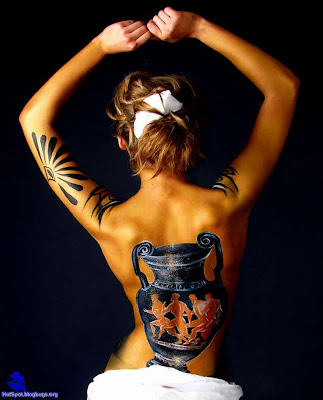 Beautiful Art Body Painting On Her Sexy Body