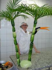 Escultura com Legumes e Vegetais