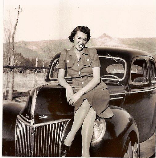 Lorene on Car