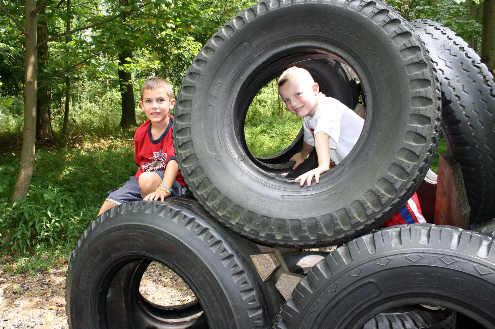 Martin family moments the tire park for Tire play structure