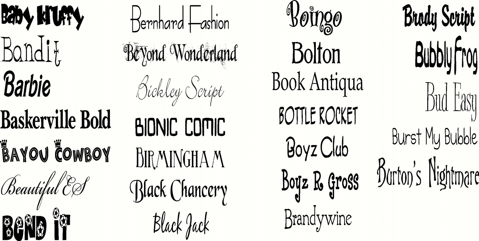 The Vinyl Voice Fonts A To Z