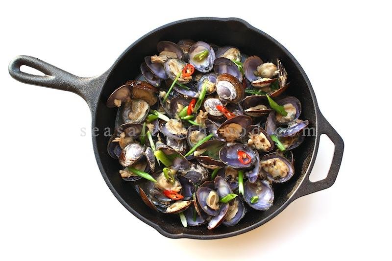 Seasaltwithfood: Stir-Fry Savoury Clams With Black Bean Sauce