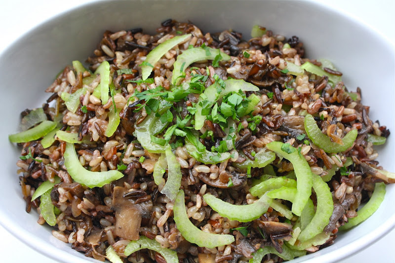 Wild rice salad with mushroom ragout, Recipe by Seasaltwithfood ...