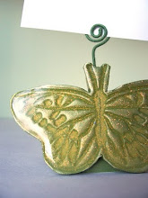 Butterfly Placecard Holders on Martha Stewart