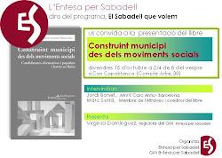 Xerrada a Sabadell 15 d'octubre