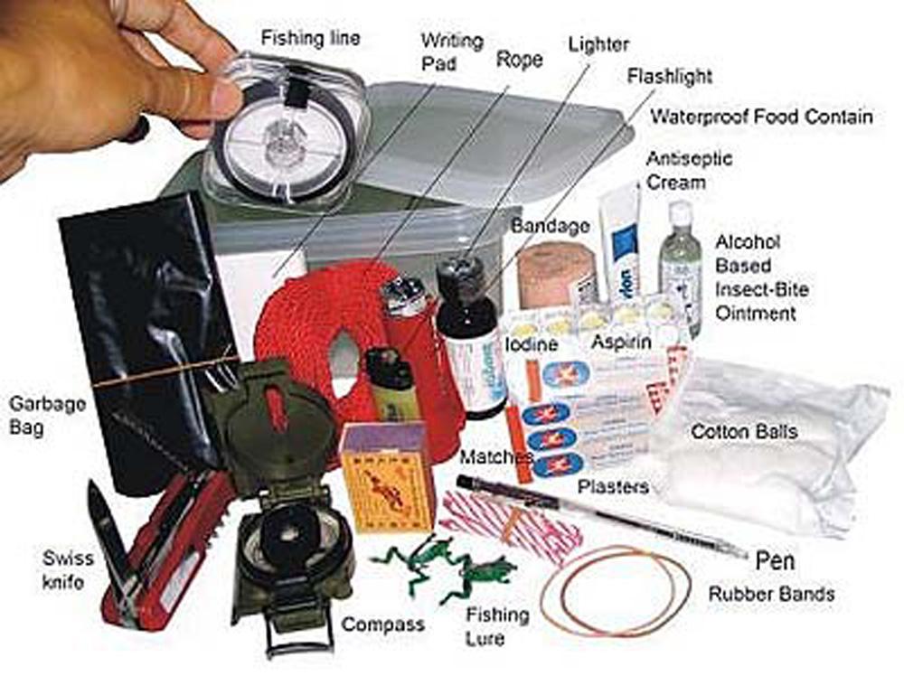 Survival kit list for natural disaster 5.5