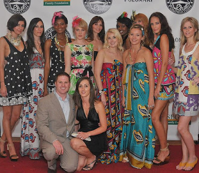 The Lalesso team with models showcasing their designs - Photo by marc Hall Photography