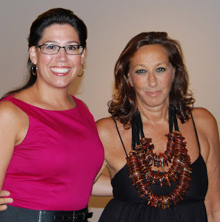 Nicole B. Brewer and Donna Karan - Photo by Lisa Tamburini