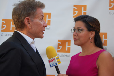 Nicole B. Brewer interviewing Calvin Klein - Photo by Lisa Tamburini