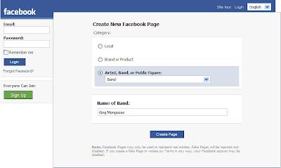 Créer une page Fan sur Facebook