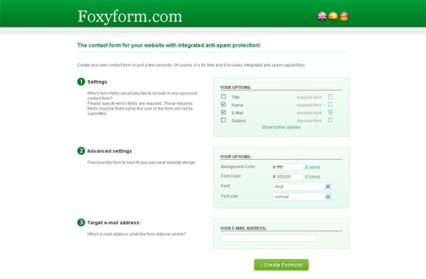 ajouter formulaire contact