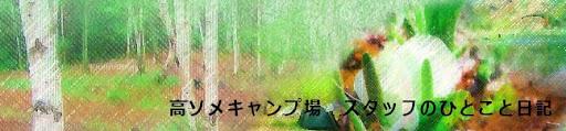 高ソメキャンプ場 スタッフみんなのひとこと日記